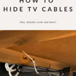 Hiding TV Cables