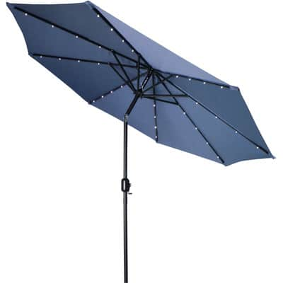 Tilt umbrella with lights