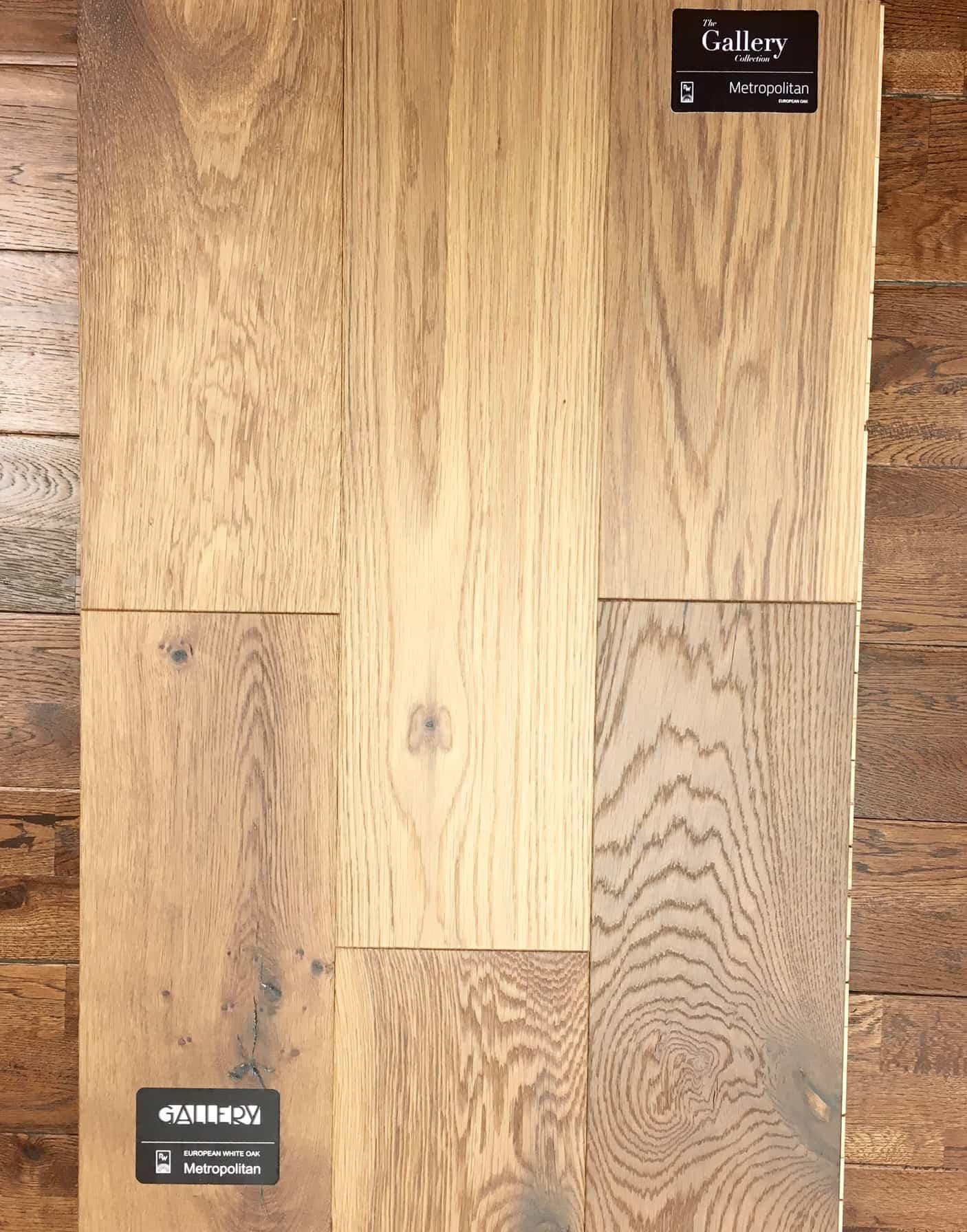 picking out natural oak hardwood
