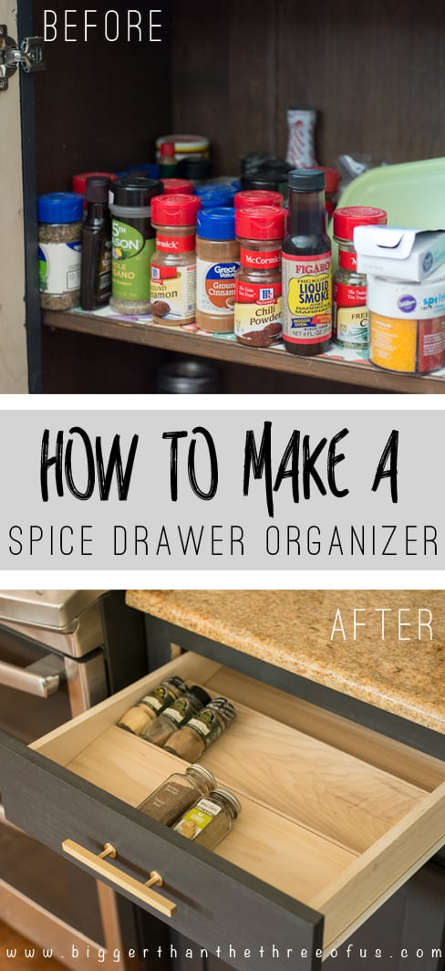 Get Organized With This Diy Spice Drawer Organizer Bigger Than The Three Of Us