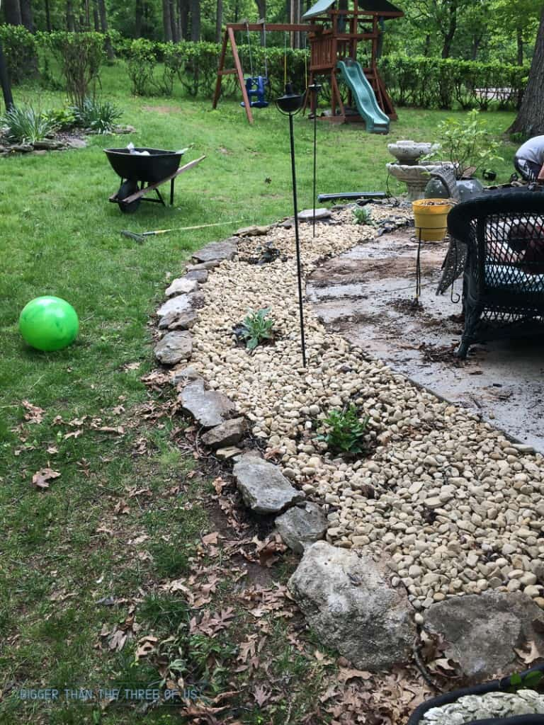 Mulch vs rock : Landscaping with Rocks instead of mulch