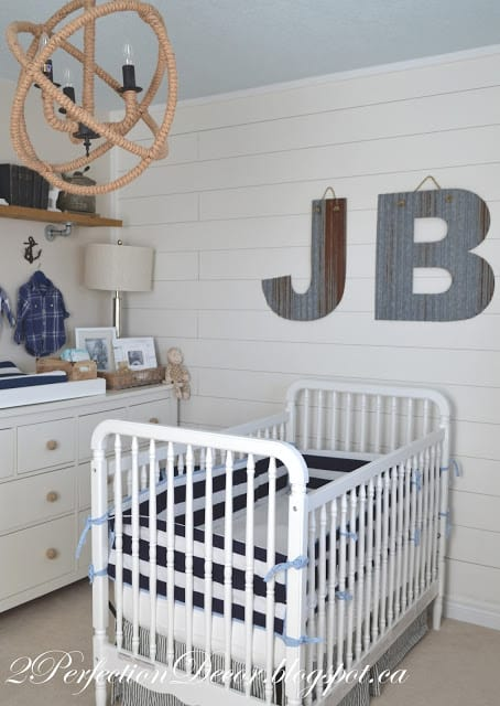 An adorable Nautical nursery reveal