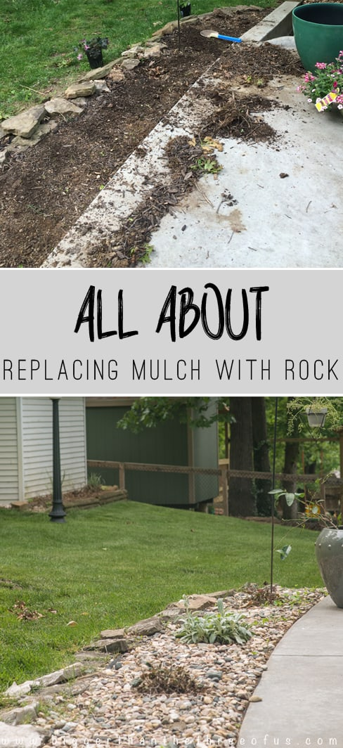 Replace mulch with Rock