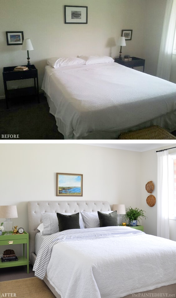 Bedroom before/after