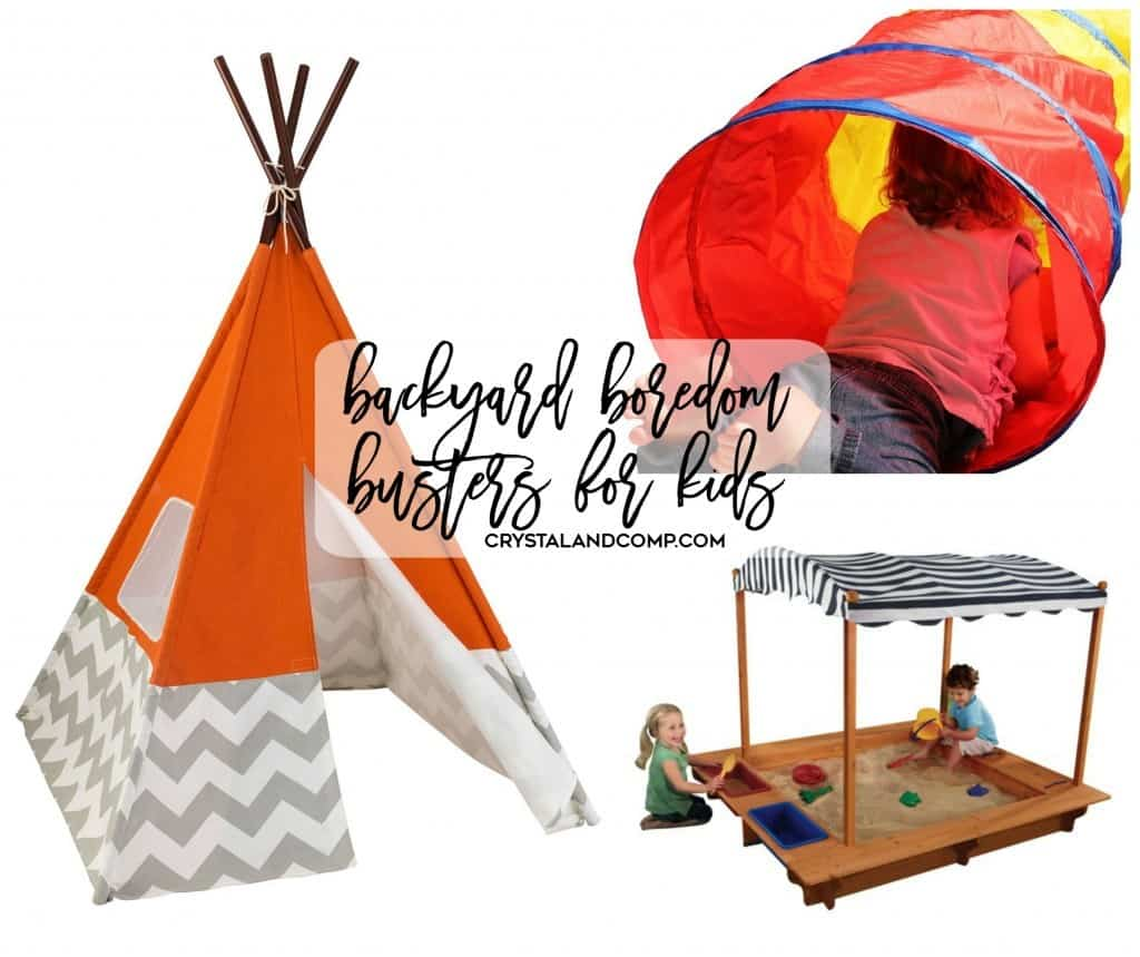 Fun backyard toys for kids! Fight the boredom with these ideas.