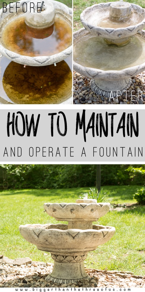How to Operate and Maintain a Fountain