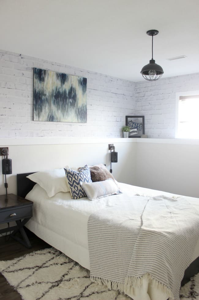 Before/After Modern Industrial Bedroom