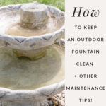 all about keeping a backyard fountain clean (picture of fountain)