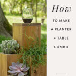 easy diy wood project: patio planter table
