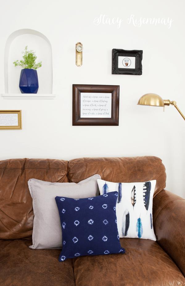 DIY indigo Mudcloth pillow tutorial
