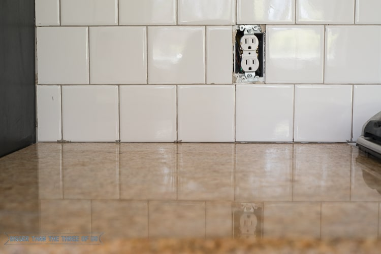 Finishing the Tile with Grout and Electrical Extenders