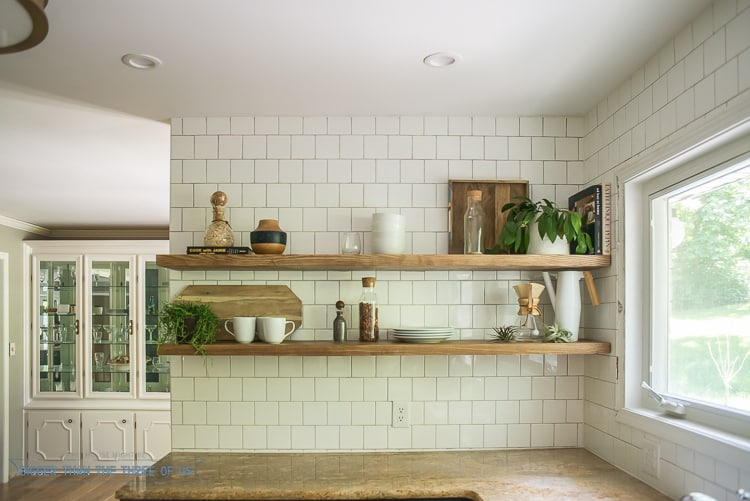 How To Install Heavy Duty Floating Shelves - For The Kitchen