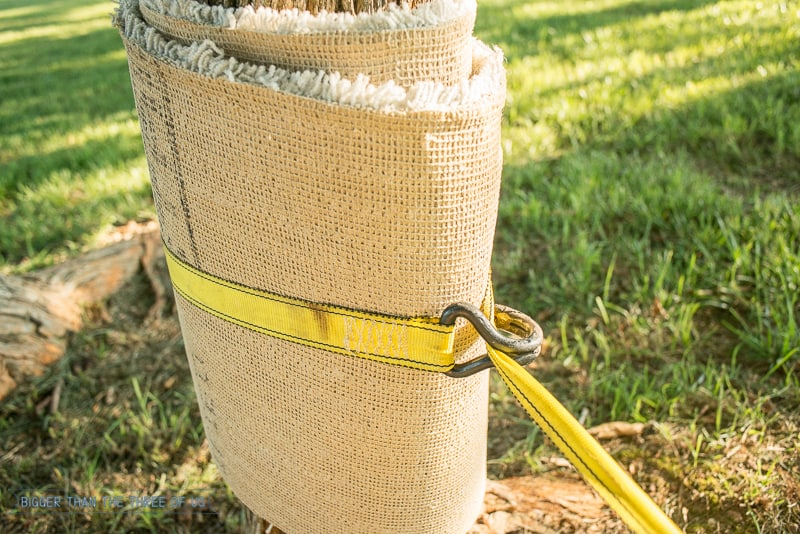 Outdoor Play - Make a Tightrope for Your Kids with Items out of the Garage!