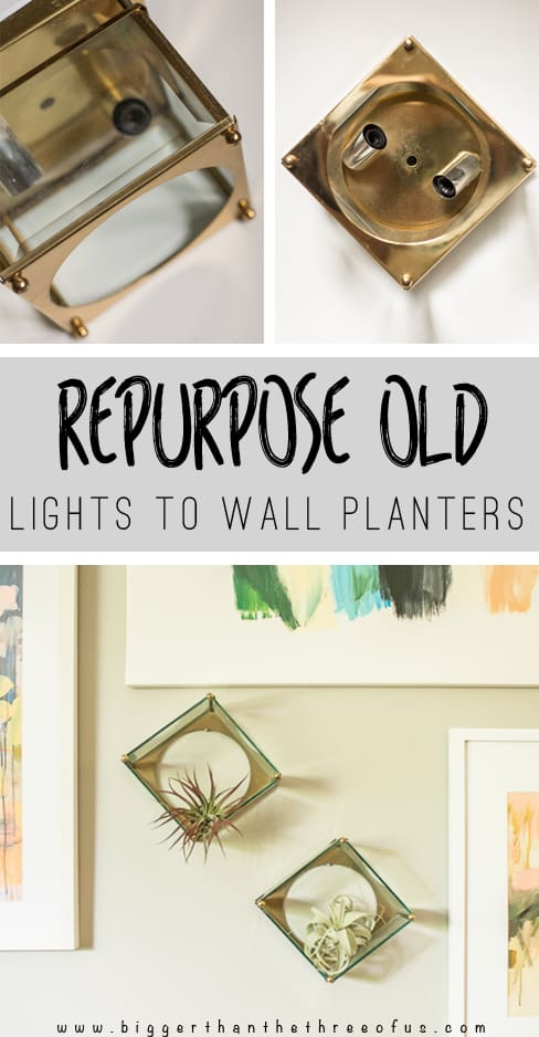 Repurpose, Recycle and Reuse those Old lIghts - make them Modern Wall Planters!