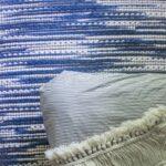 mid-century blue master bedroom