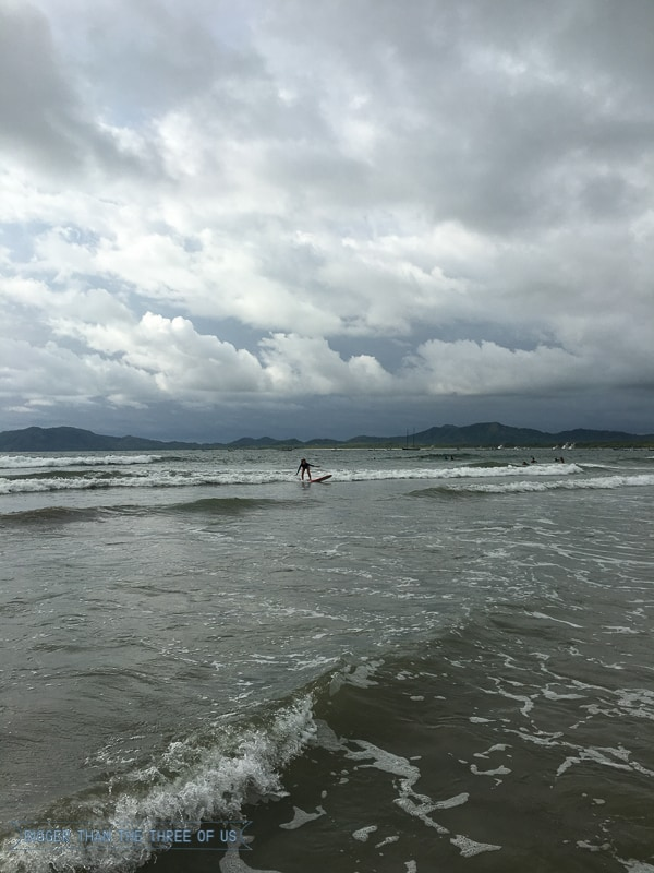 Surfing in Tamarindo, Costa Rica