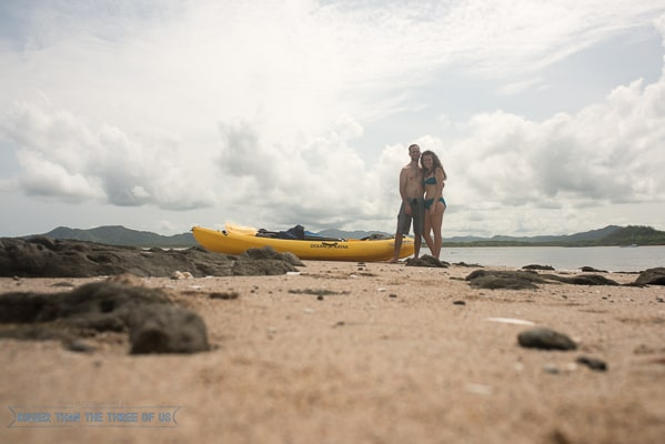 Sea kayak to a private island in Costa Rica