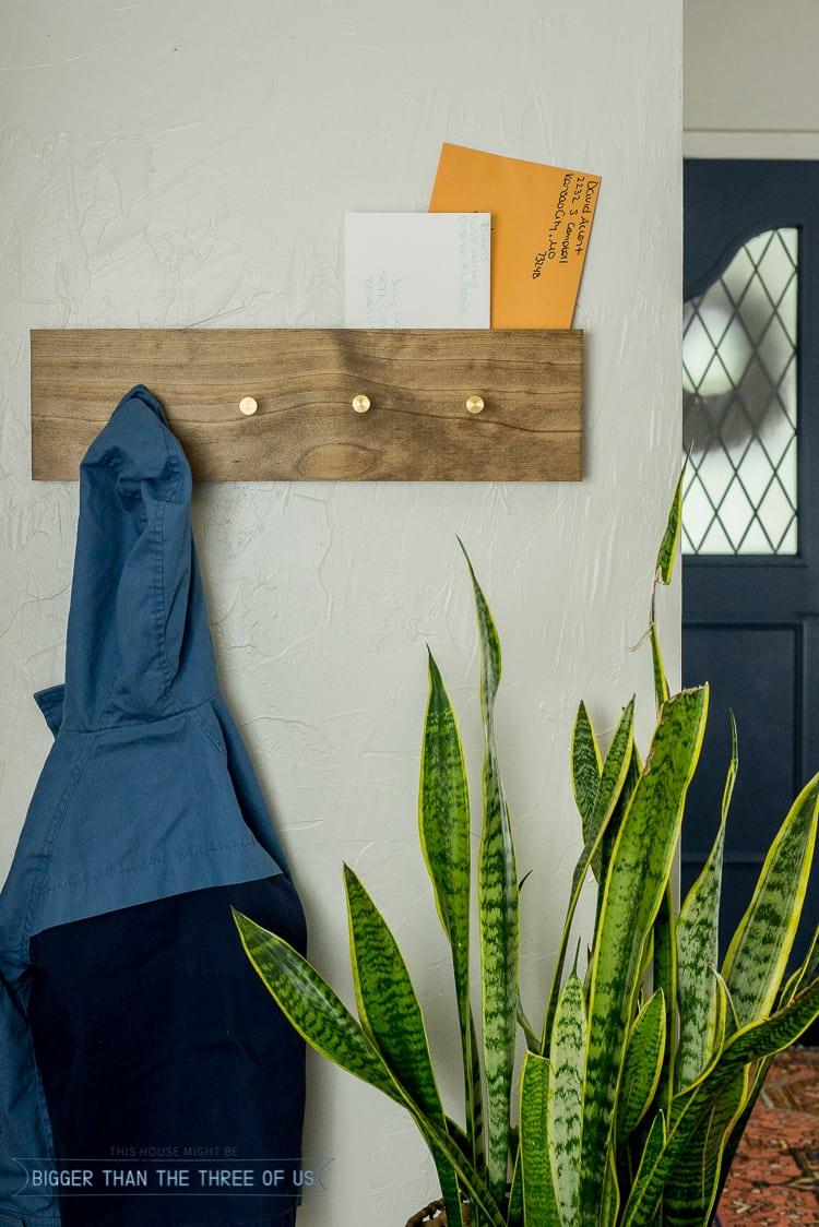Diy Modern Wall Mount Coat Rack With Secret Mail Slot