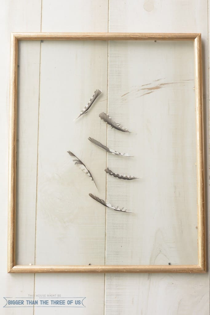 West Elm Inspired DIY Feather Art