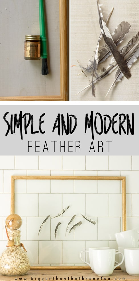 This project is so simple yet so cute! Make this simple feather art piece in just a few minutes!