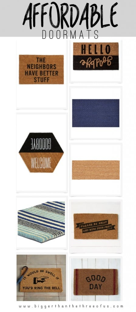 Fun and Modern Affordable Doormat Round-Up
