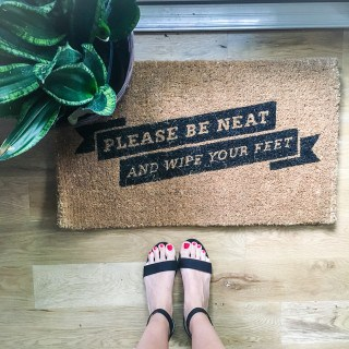 Wipe your feet with these awesome doormats