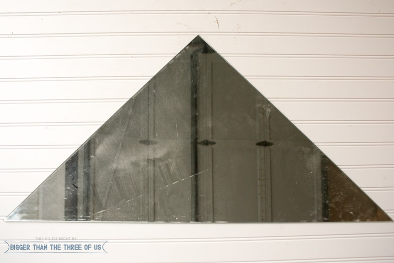 Make your own triangle mirror or any other shape for that matter! Use this how-to!
