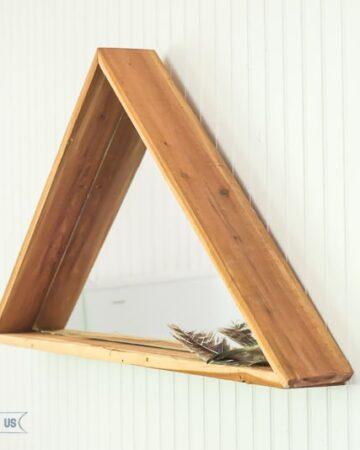 Modern yet Rustic DIY Triangle Mirror