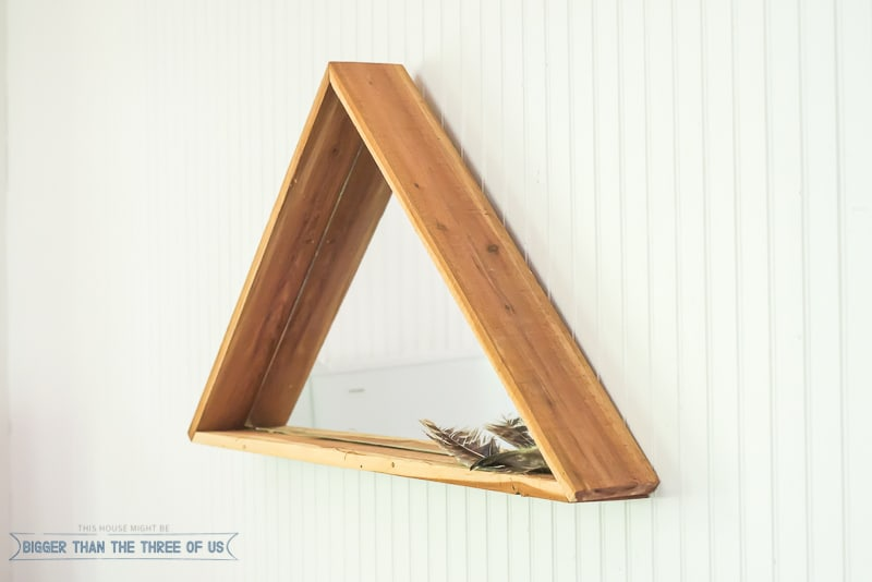 Modern yet Rustic DIY Triangle Mirror
