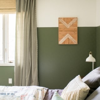DIY Geometric Wood Wall Art