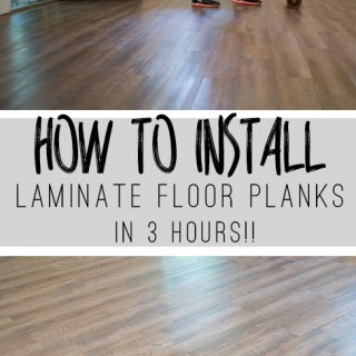 Use this tutorial to install laminate flooring that looks like wood in just three hours!