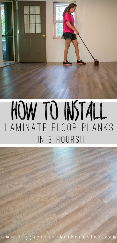 use this tutorial to install laminate flooring that looks like wood in just three hours