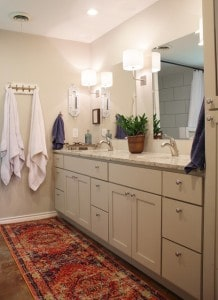Bathroom refresh with just a few changes!