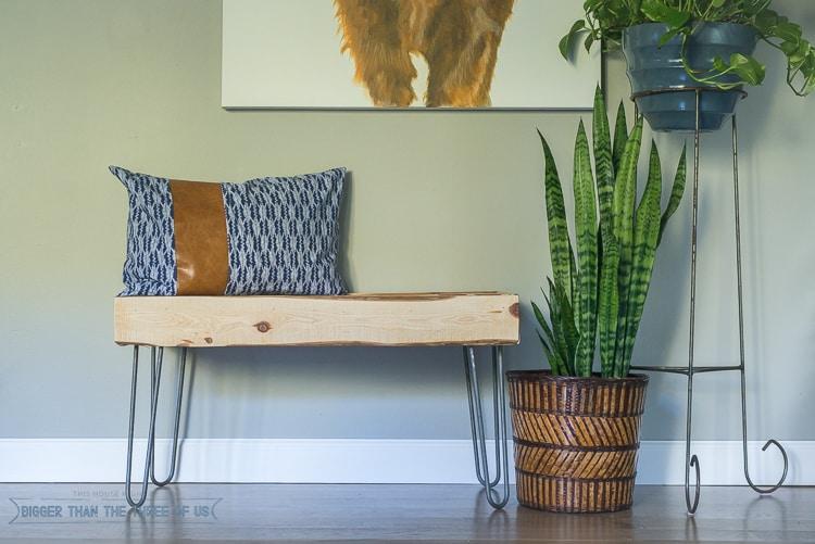 Rustic bench modern bench DIY bench hairpin legs