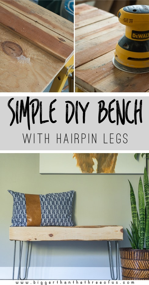 Make this Hairpin Leg Bench in just a few easy steps! It can be a rustic bench or a modern bench. Choose your wood for your needs and get busy!