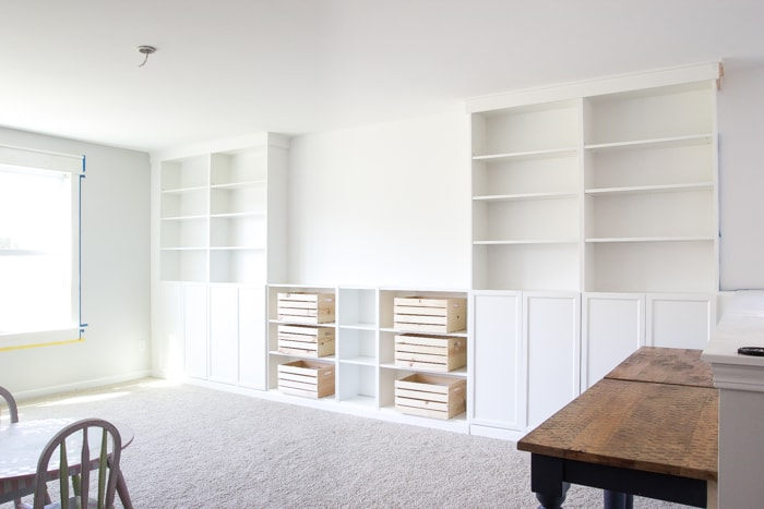Ikea Hack - Bookcases to wall unit!