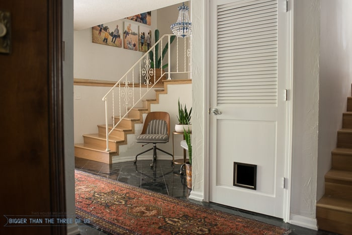 Eclectic Mid-Century Entryway Refresh