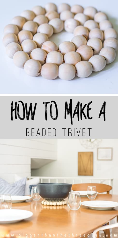 How to Make a Wood Bead Trivet
