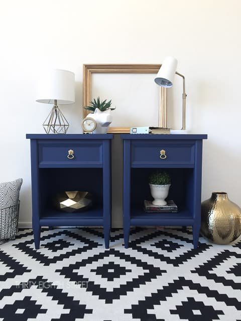 Refinish nightstands with paint