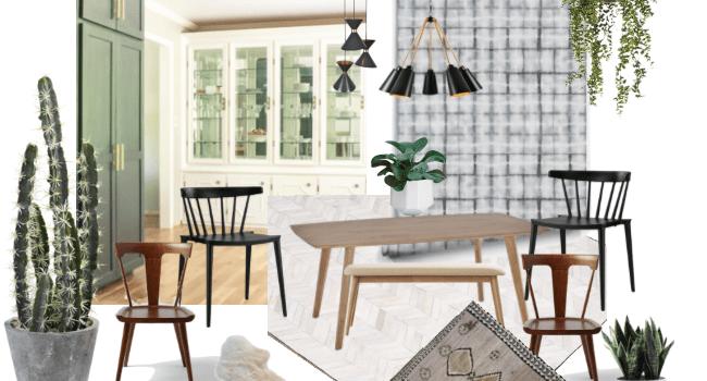 Eclectic Modern Formal Dining Room Design