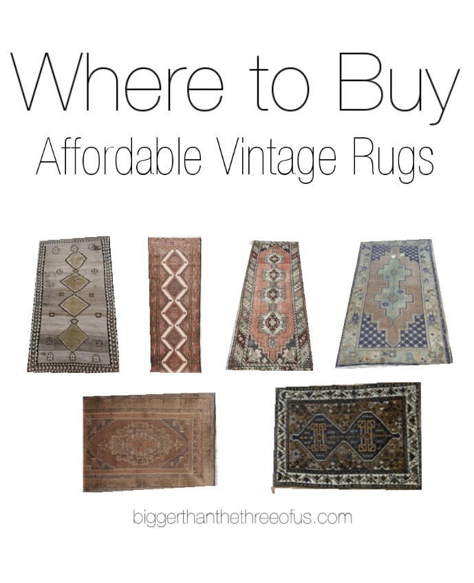 Vintage Persian Rugs / Where to buy affordable vintage rugs