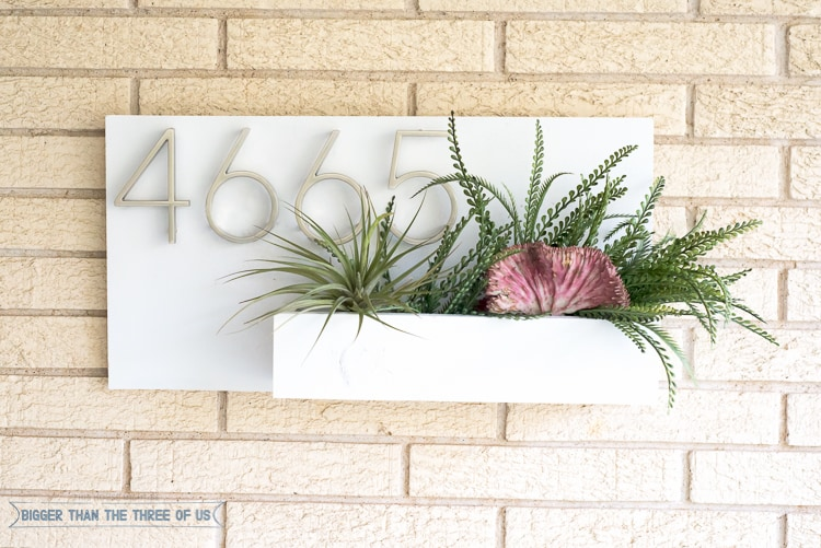 Make this DIY Address Plaque with scrap wood!