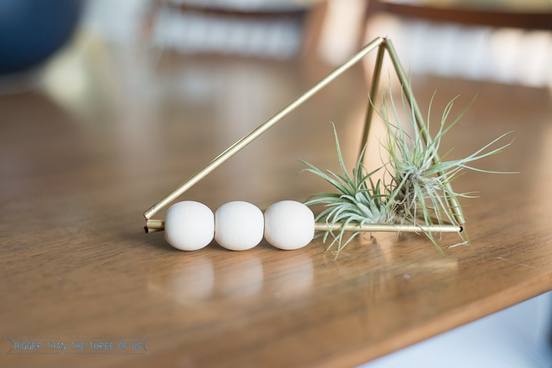 DIY Brass Wood Bead Airplant Holders