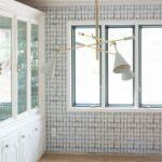 Shibori Wallpaper in modern eclectic boho dining room