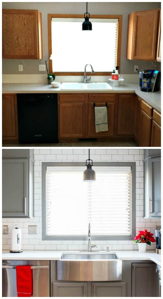 Before and After Kitchen Reveal