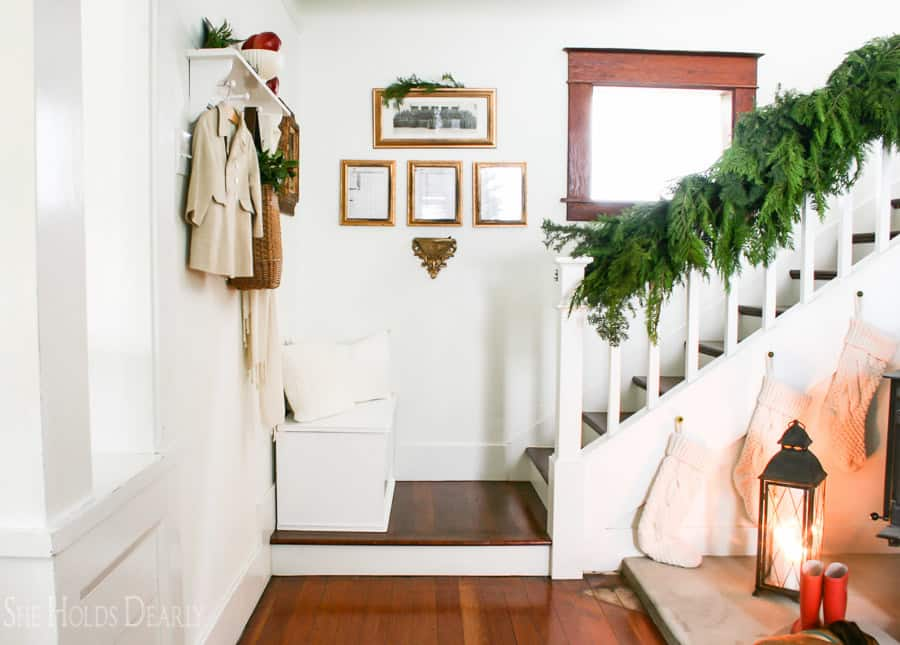 Holiday home tour with fresh greenery