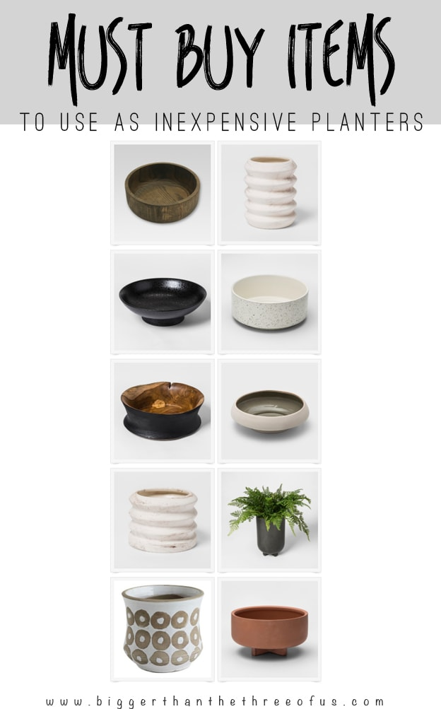 10 Must Buy Target Items to use as Inexpensive Planters
