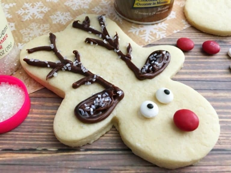 Adorable Rudolph Sugar Cookies for Christmas!
