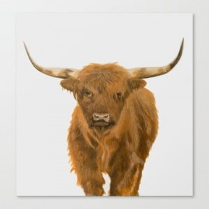 Highland Cow Painting By Bigger Than The Three Of Us