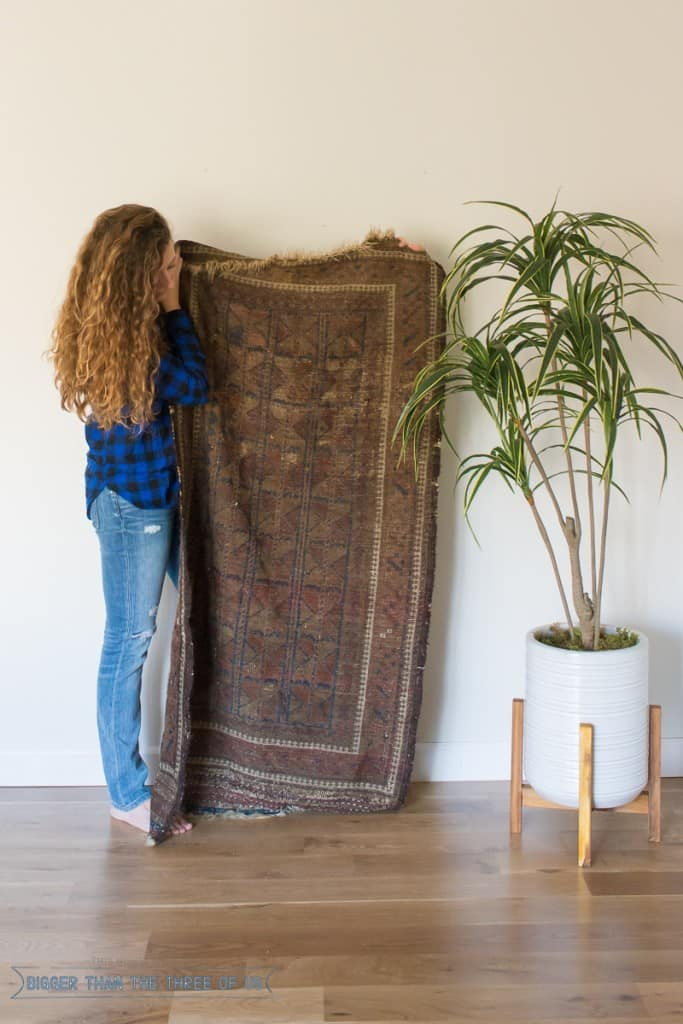 Use this SIMPLE tutorial to clean your Vintage Rug! Click to see.